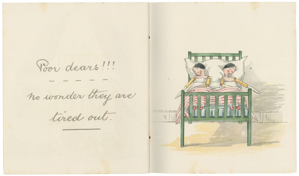 Pages 29-30 from 'Catherine Susan and Me's Coming Out' by Kathleen Ainslie (Rare Books 823.912 AIN)