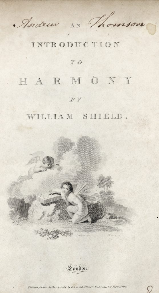 Image from 'An Introduction to Harmony by William Shield' (18th Century Collection 780 SHI)