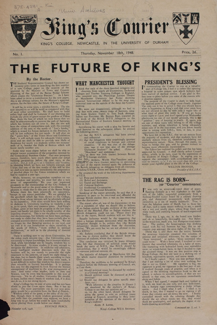 First issue of the Courier, 18th November 1948