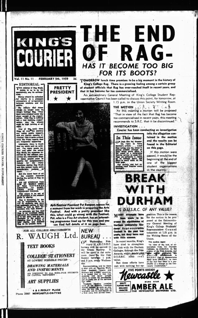 'The End of Rag', 5th February 1959