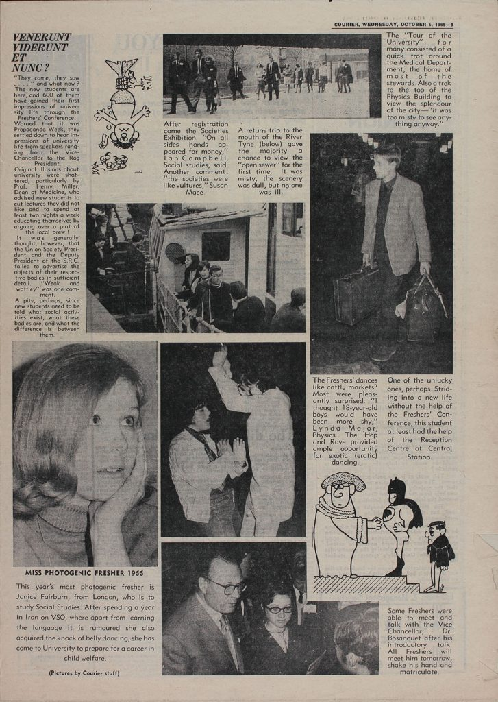 Page includes Miss Photogenic Fresher, 10th May 1966