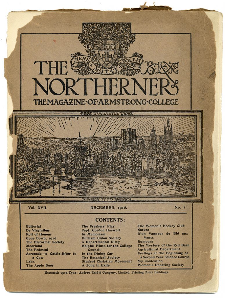 Front cover of the first issue of the Northerner, 1st December 1916