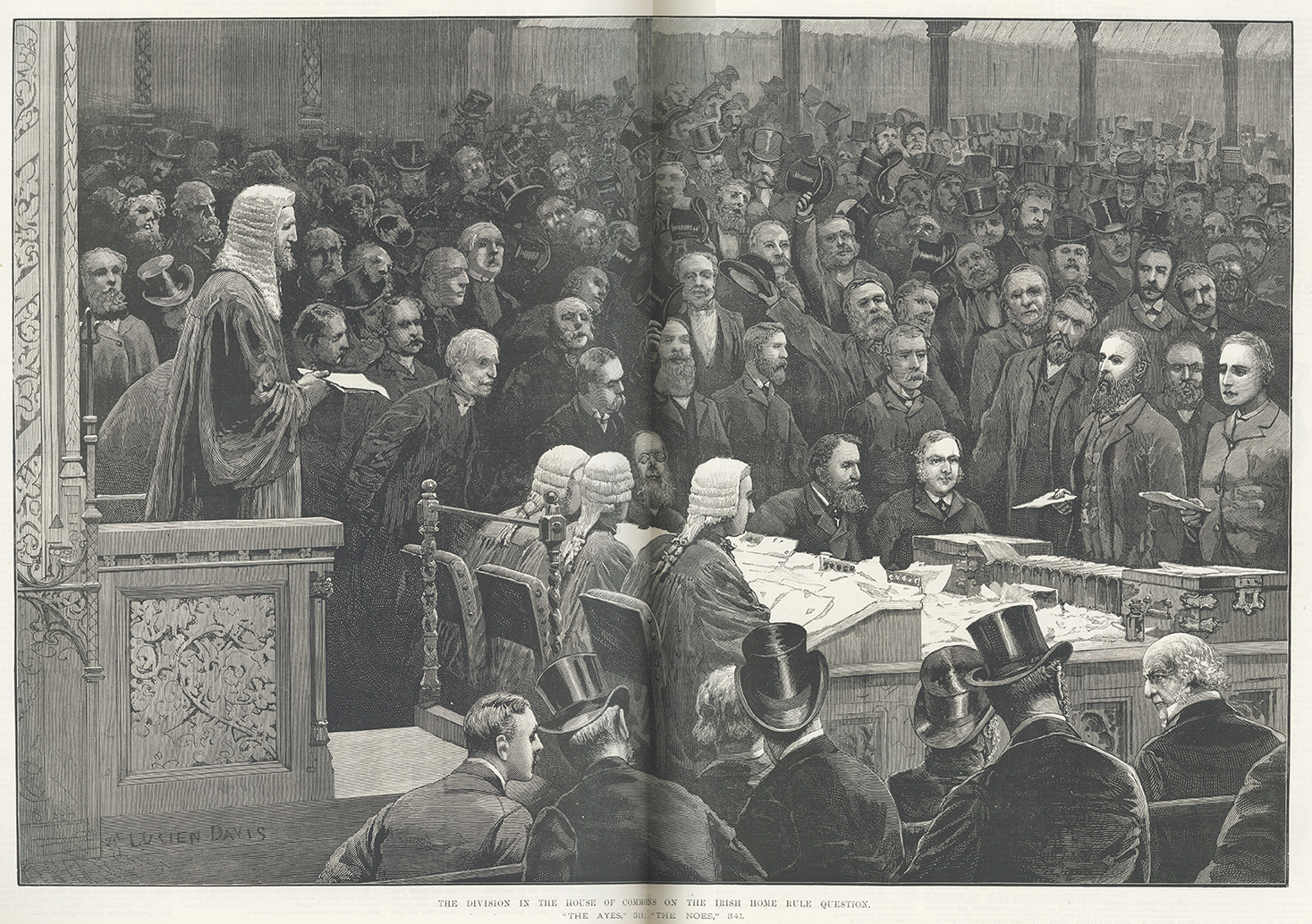 'The division in the House of Commons on the Irish Home Rule question'