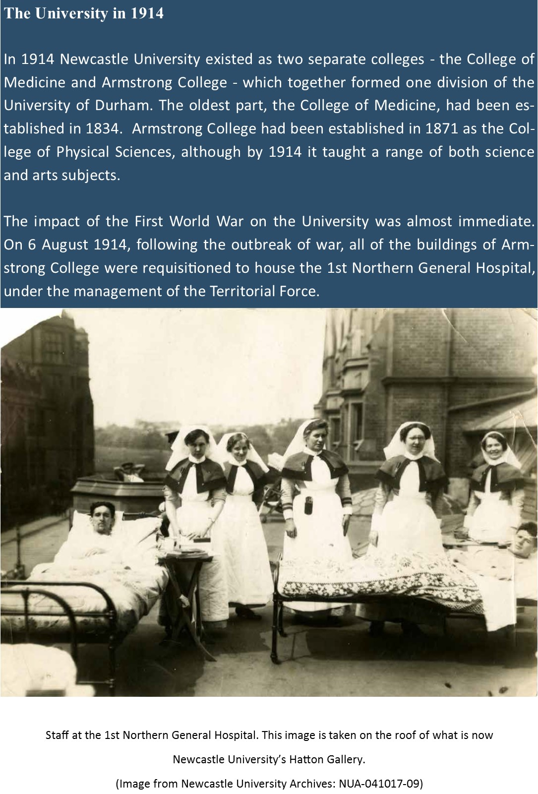 A University at War – Newcastle University during WWI