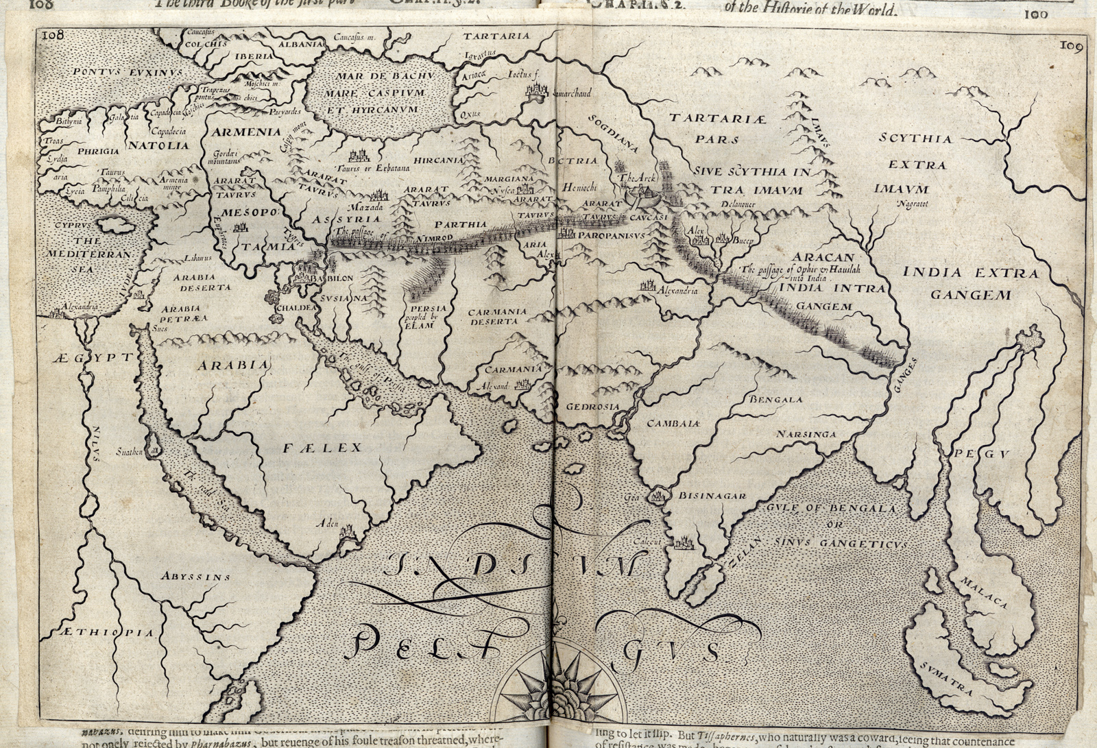 A map from our 1628 edition of The History of the World.