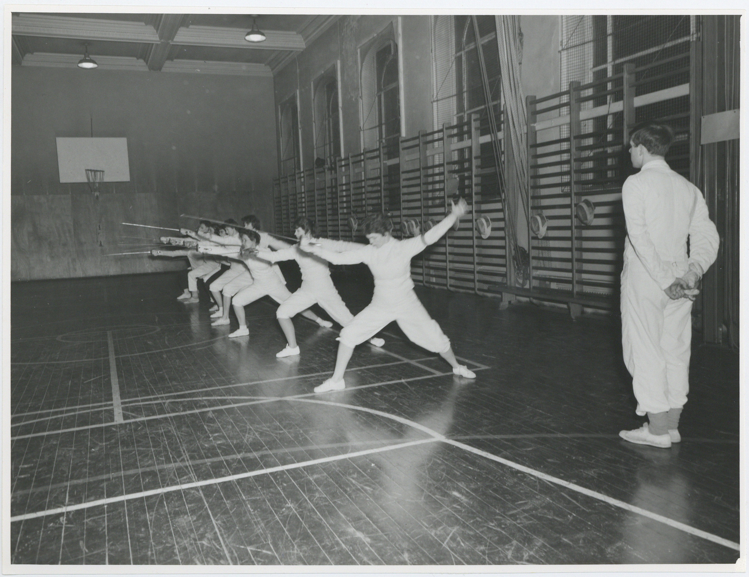 Fencing class, 1963