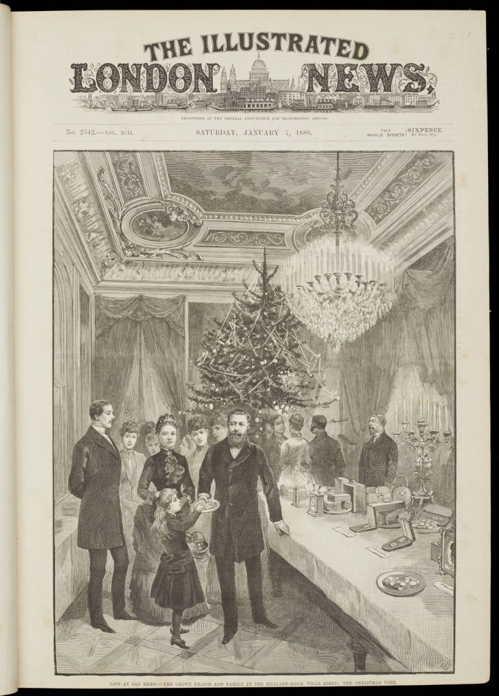 Page from Illustrated London News (19th Century Collection, 19th C. Coll ILL 030)