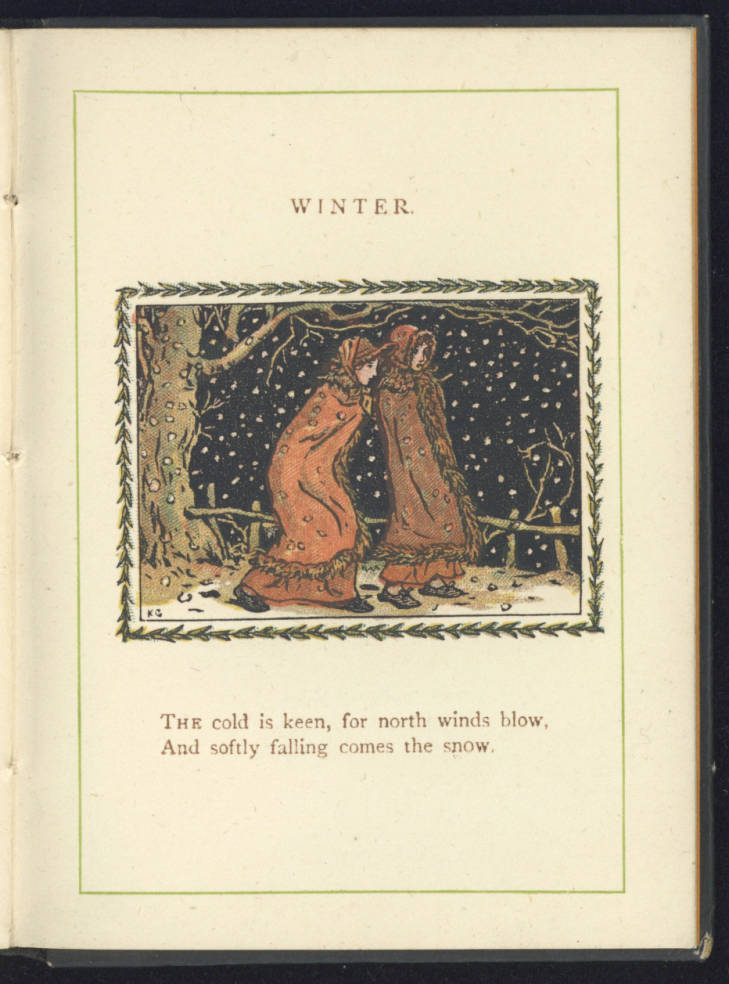 Page from Kate Greenaway's almanack 1890 (19th Century Collections, 19th C. Coll 030 GRE)