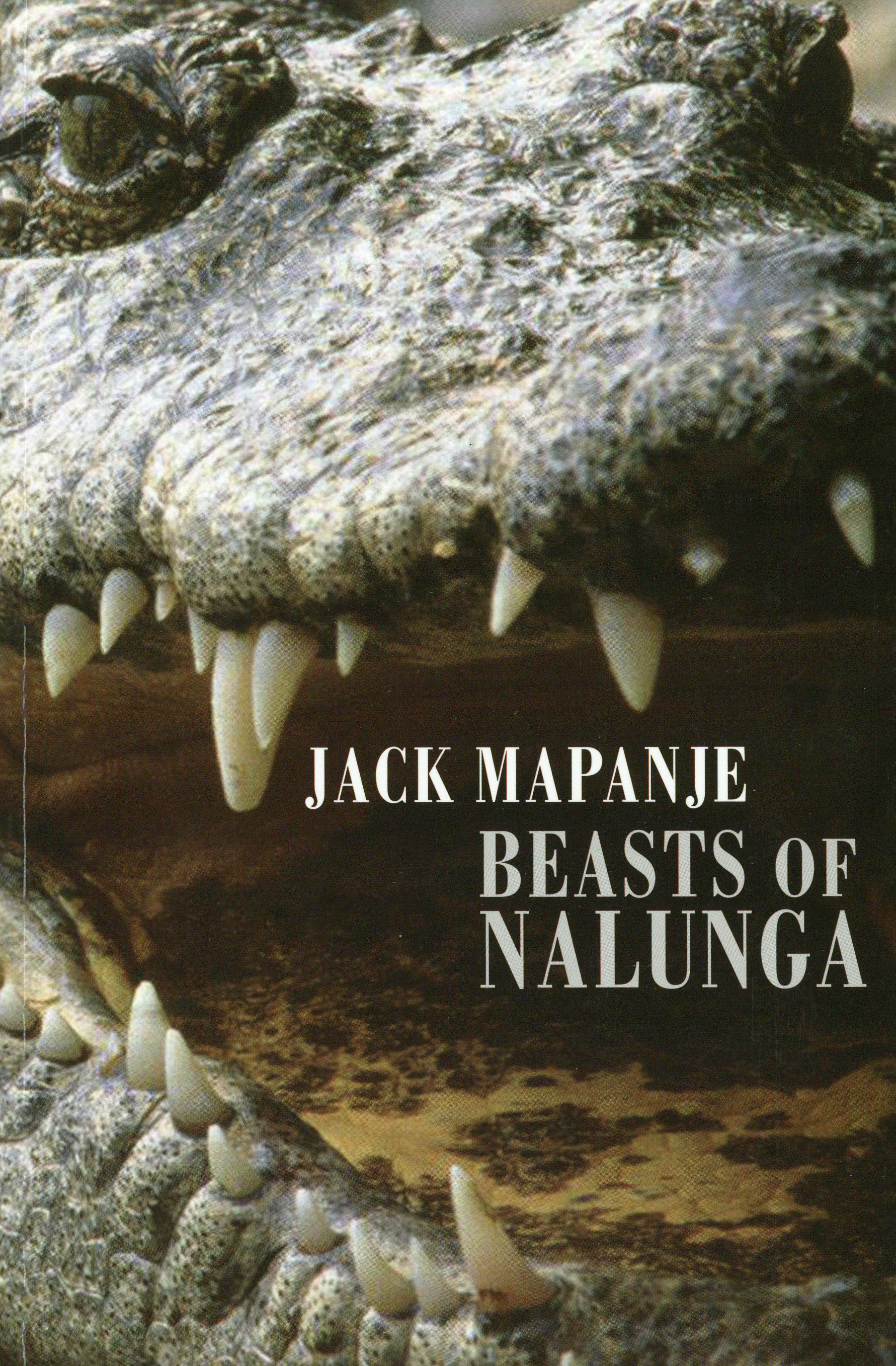 Front cover of 'Beast of Nalunga', showing the head of a crocodile with its mouth open