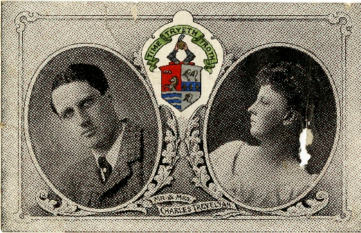 Postcard photograph of Mr and Mrs Charles Trevelyan