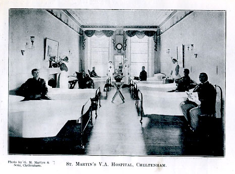 Black and white image of a hospital ward