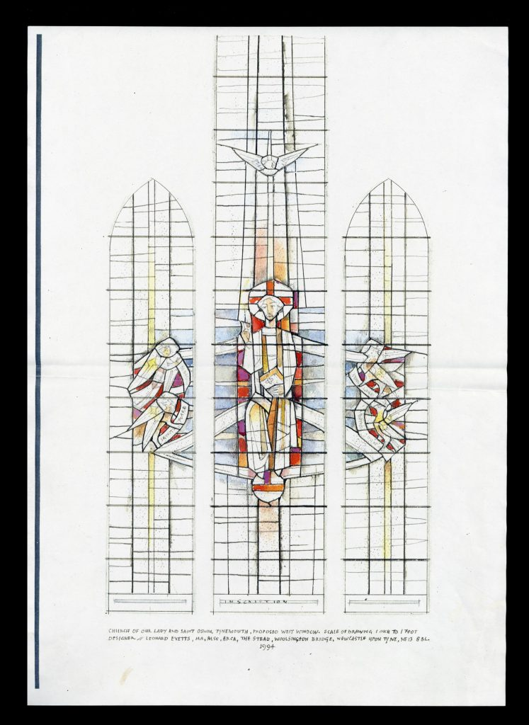 Proposed West Window, Church of Our Lady and Saint Oswain, Tynemouth