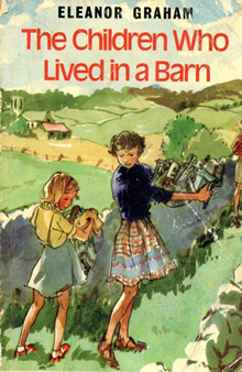 Colourful front cover of The Children Who Lived in a Barn.