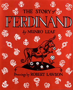 Front cover of The Story of Ferdinand, by Munro Leaf.
