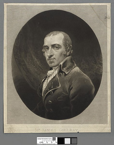 Oval portrait of James Gillray.