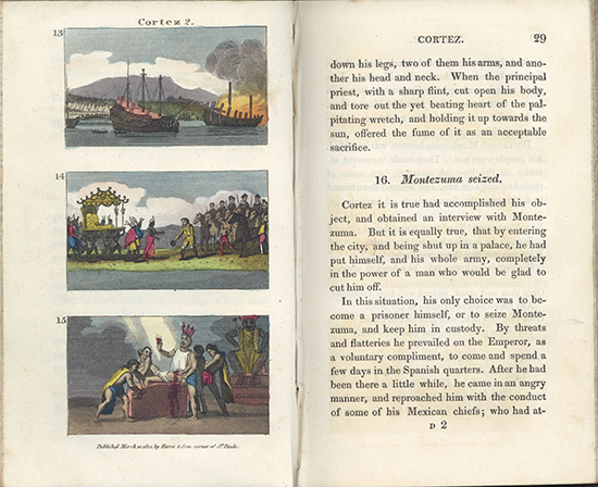 Page from Scenes in America, for the Amusement and Instruction of Little Tarry-at-Home Travellers  (Rare Books, RB375 9 TAY)