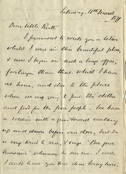 Letter from Robert Spence Watson to Ruth Watson