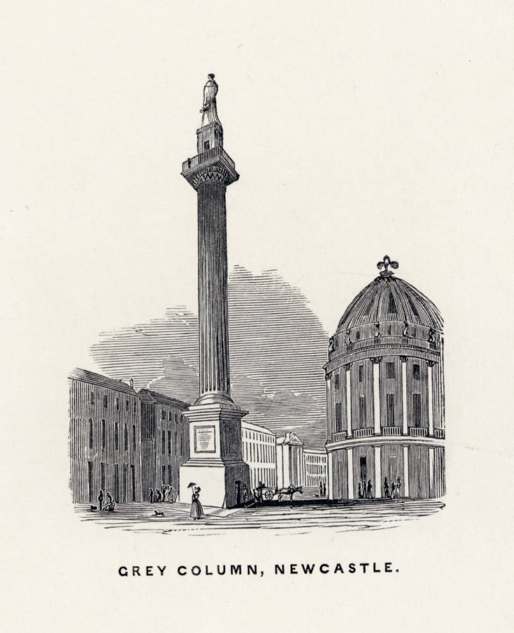 Illustration of Grey Column, Newcastle, 19th Century