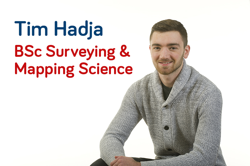 Tim Hadja, BSc Surveying and Mapping Science student at Newcastle University