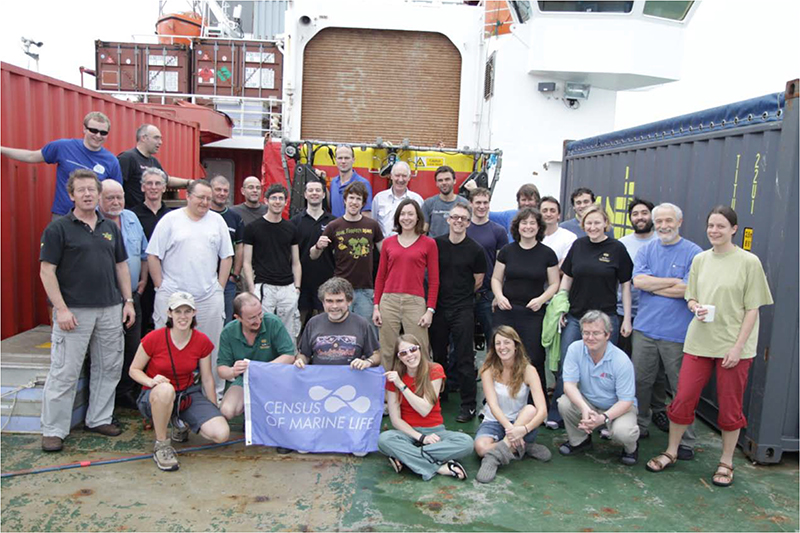 The scientific party involved in sampling hydrothermal vents in the Antarctic