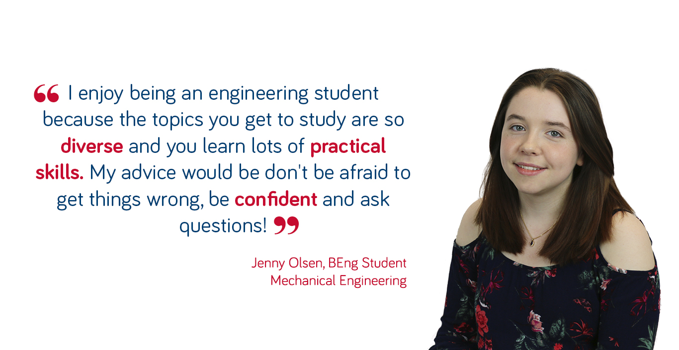 Jenny Olsen mechanical engineering student