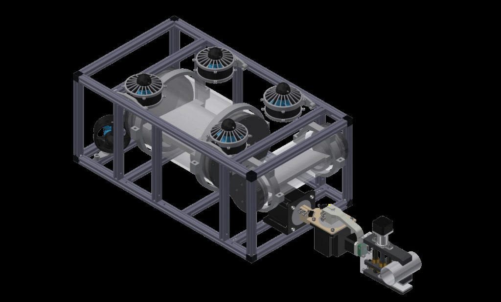 3D CAD model of ROV
