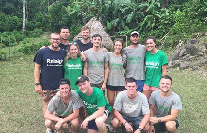 Costa Rica team photo, Newcastle University, Raleigh International
