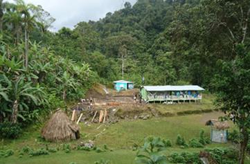 The site pre-construction