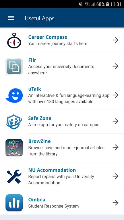 Access BrowZine via the Newcastle University App