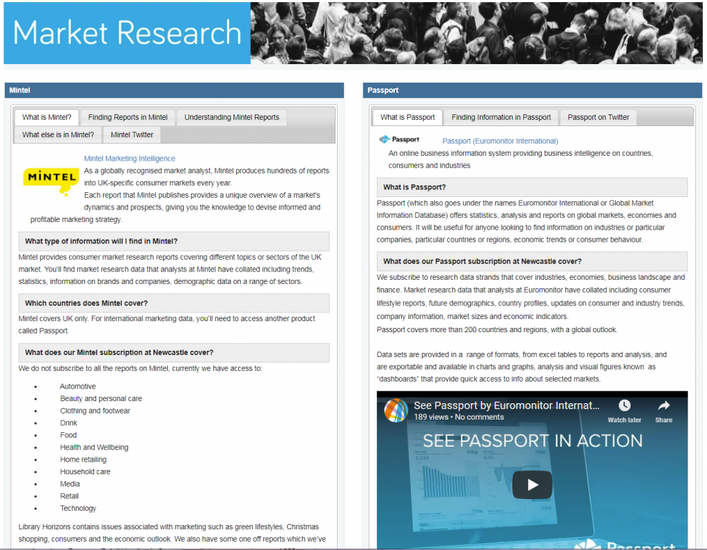 Market Research Topic Guide homepage image