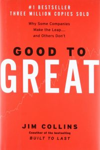 Book cover of 'Good to Great' by Jim Collins
