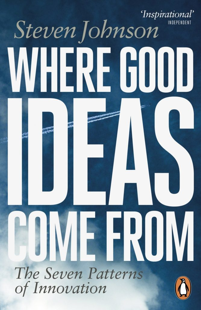 Book cover of 'where good ideas come from' by Steven Johnson