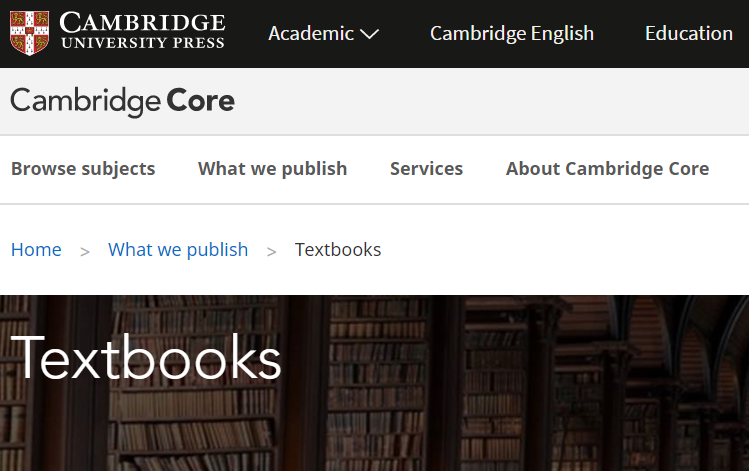 Now available: Cambridge University Press announces free electronic textbooks collection until end May 2020