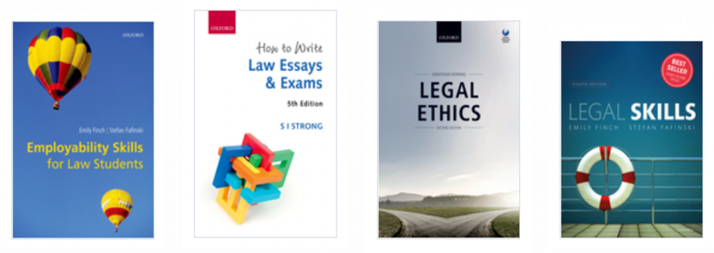 An image of book covers covering employability and academic skills.