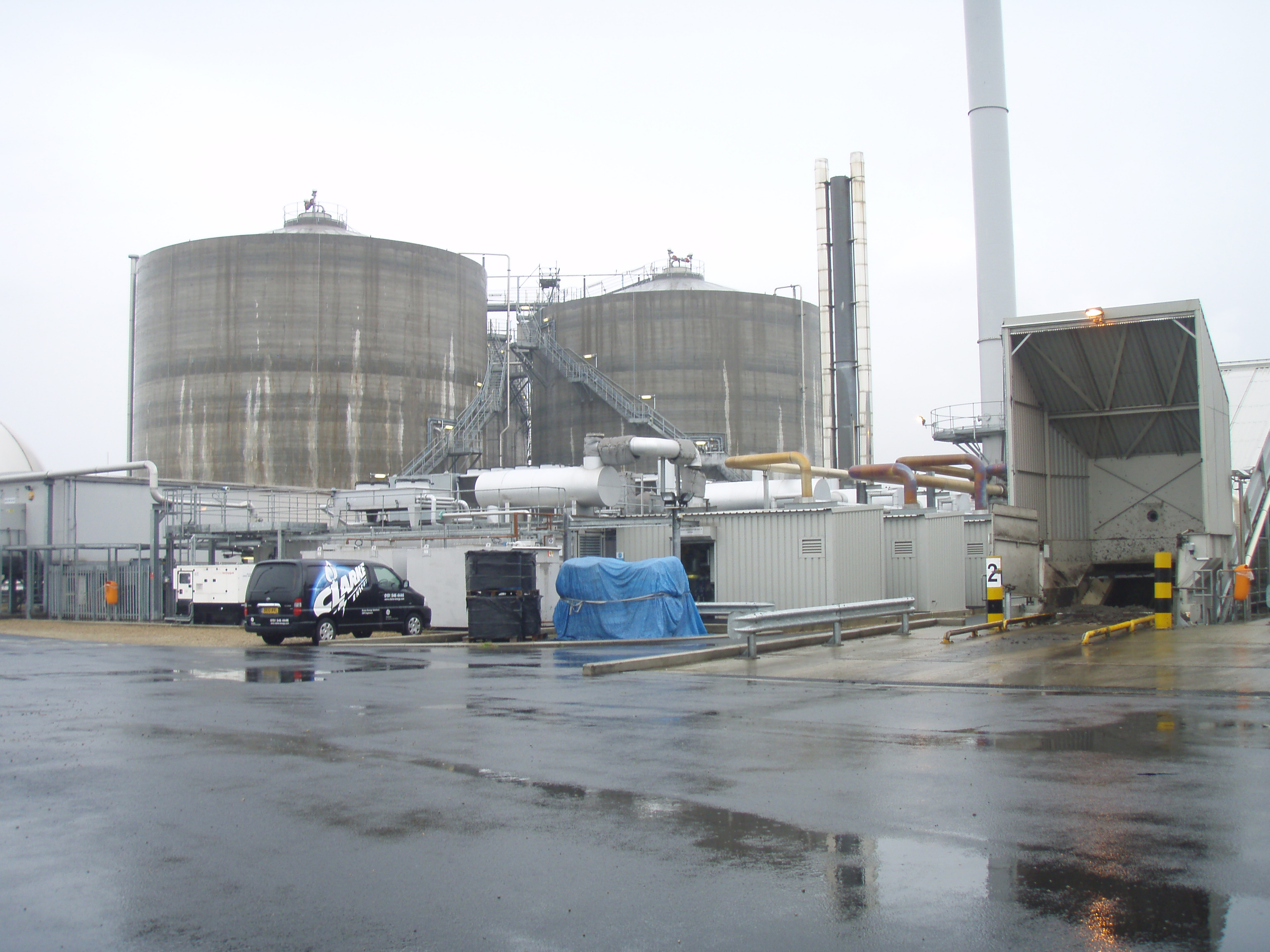 Anaerobic digestion (AD) plant at Bran Sands