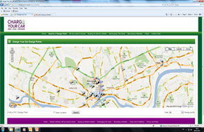Charge your car web map