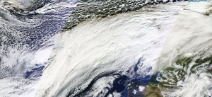 Satellite image of Storm Desmond.