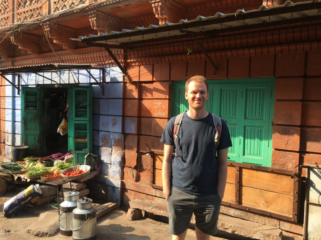 PhD student Jack Charnley in Delhi