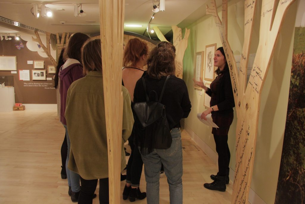 Dr Jessica Medhurst gave the students a guided tour. Image: Newcastle University