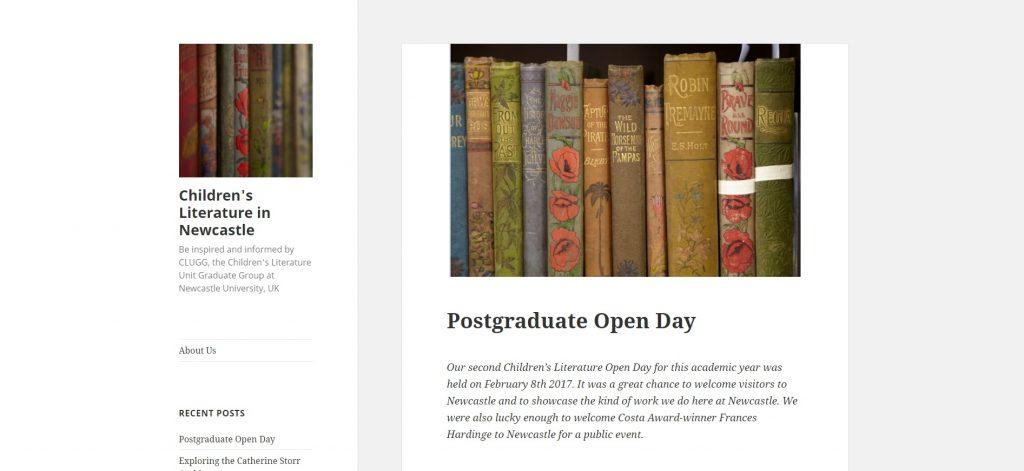 Children's Literature in Newcastle blog.