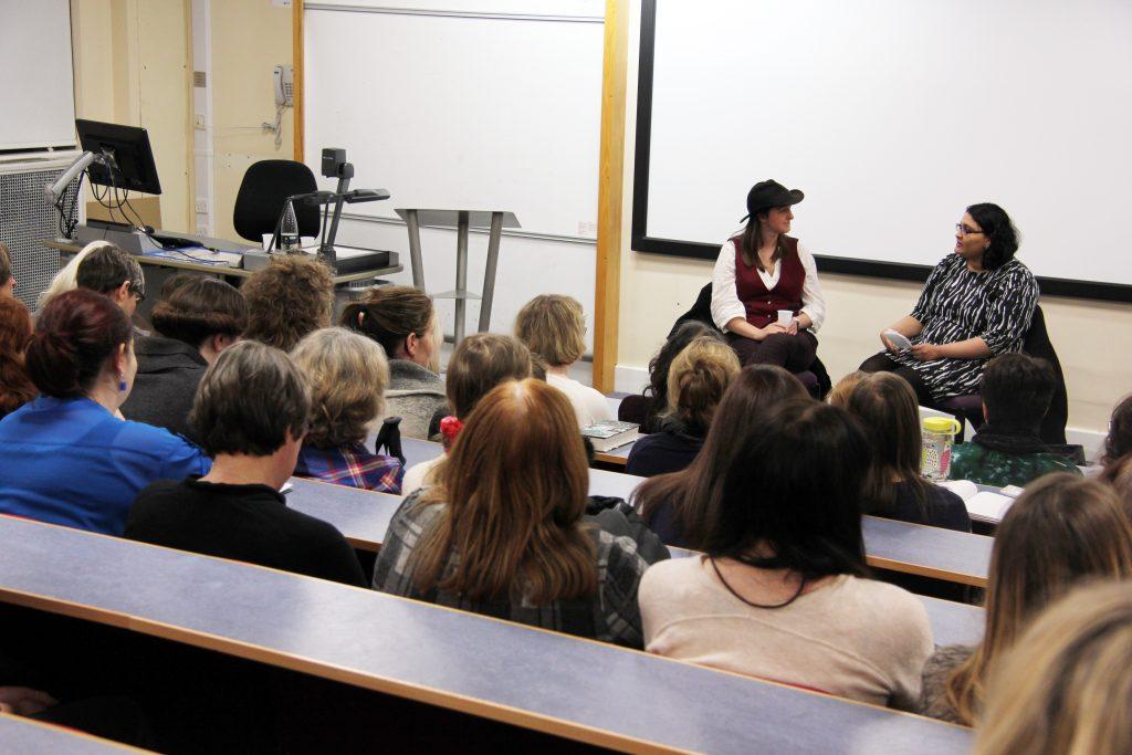 Frances Hardiinge and Aishwarya Subramanian. Image: Newcastle University