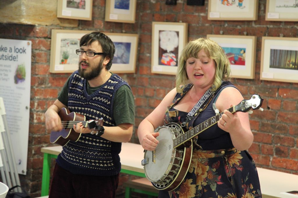 Will Finn and Rosie Calvert perform at Seven Stories.