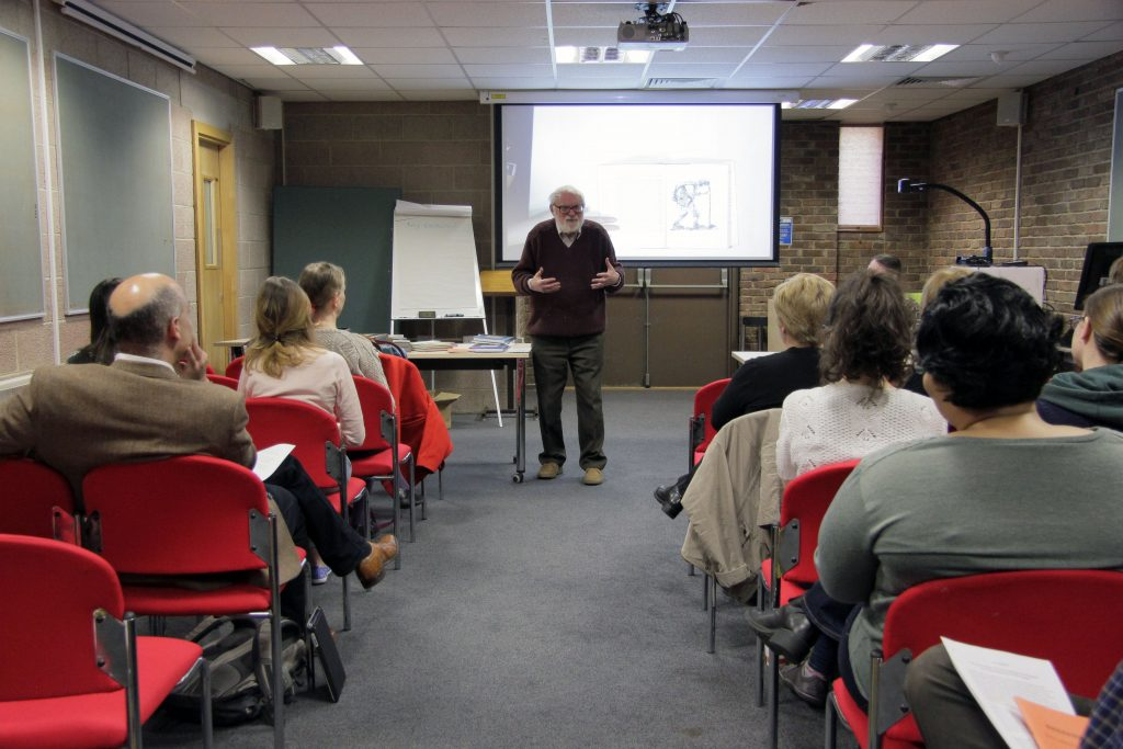 Dr. Brian Alderson gives a Looking at Children's Books talk at the Philip Robinson Library. Image: Newcastle University