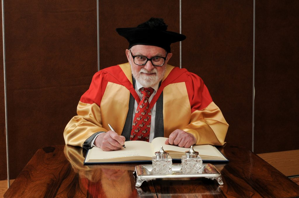 Newcastle University awarded Dr Brian Alderson an honorary degree in 2016. Image: Newcastle University