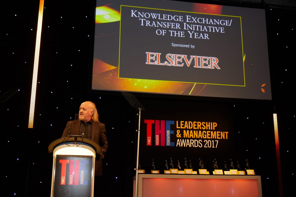 The Knowledge Exchange / Transfer Initiative of the Year. Image: Times Higher Education