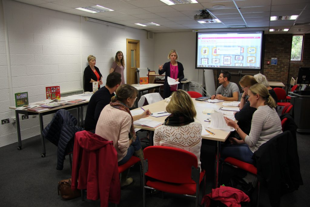 Gillian Johnston introducing the alphabet books project at the teachers' CPD day. Image: Newcastle University