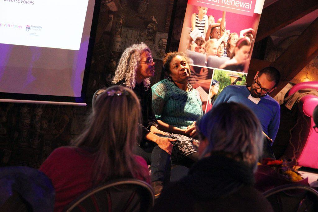Catherine Johnson, Patrice Lawrence and Darren Chetty in conversation. Image: Newcastle University