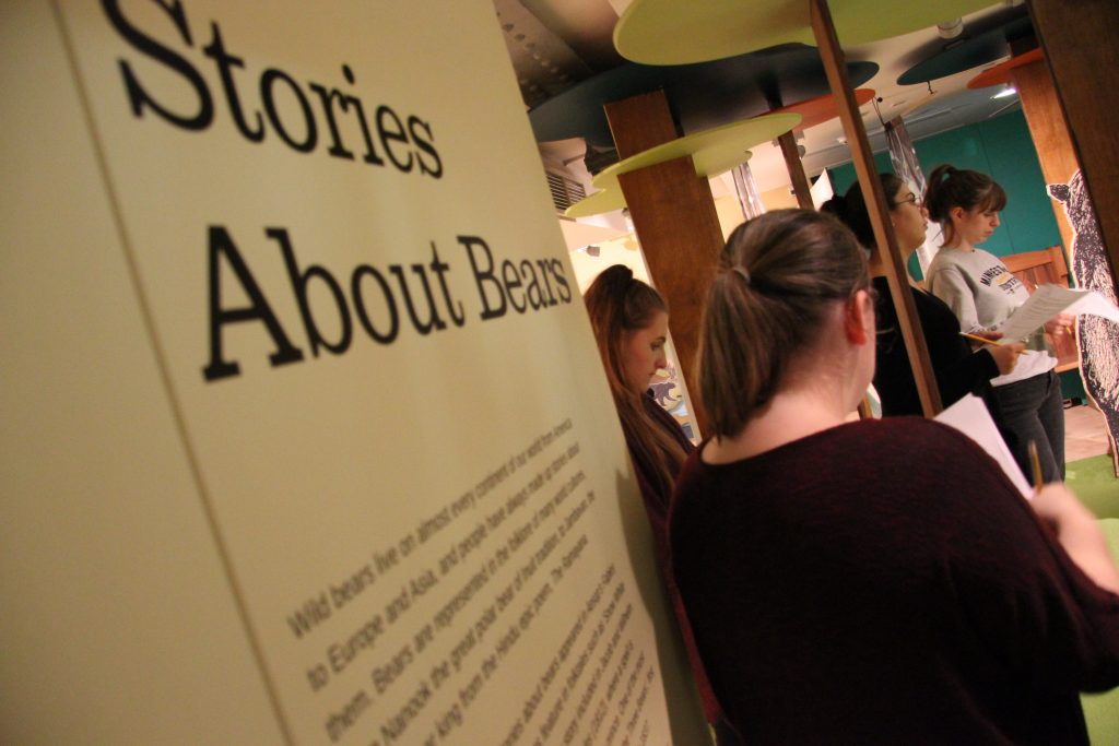 Newcastle University students visit the Bears exhibition at Seven Stories, which was supported by a Knowledge Transfer Partnership between the two organisations. Image: Newcastle University