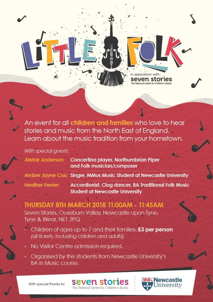 The Little Folk poster, produced by the Music BA Honours students.