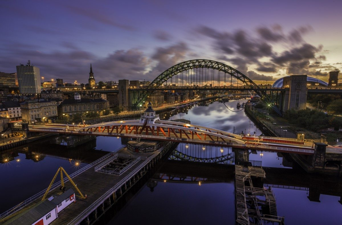 Newcastle quayside. Image: Newcastle University